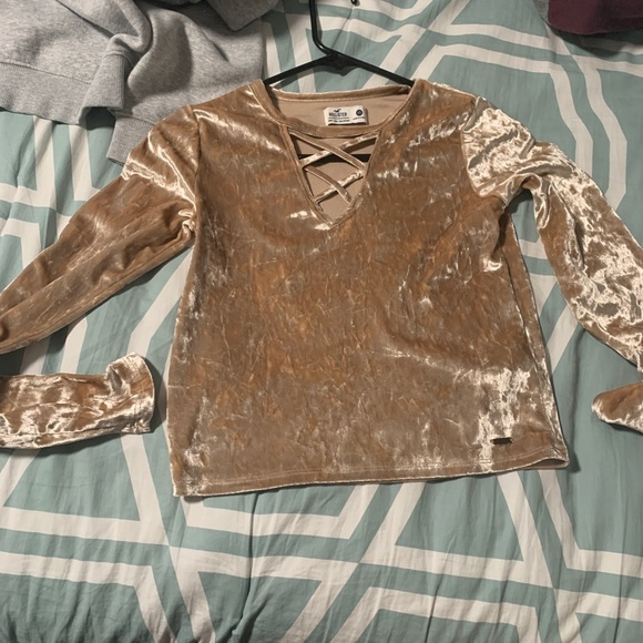 Hollister Tops - velvet long sleeve